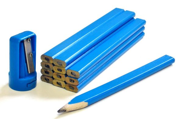 Carpenters Pencils & Sharpener Set